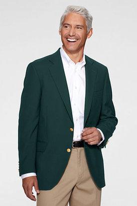 Lands' End Men's Dress Code Blend Hopsack Blazer
