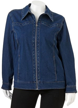 Cathy daniels embellished denim jacket - women's plus