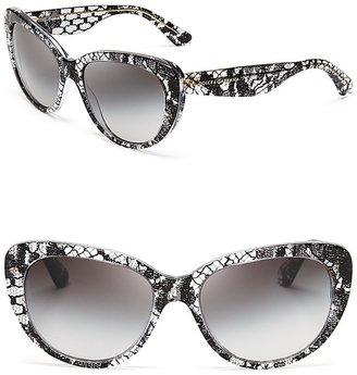 Dolce & Gabbana Black Lace Cat Eye Sunglasses