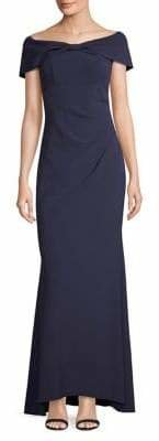 Eliza J Bow Front Off-The-Shoulder Gown