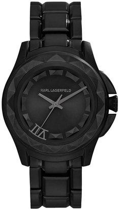 Karl Lagerfeld Unisex 7 Black Ion-Plated Stainless Steel Bracelet Watch 36mm KL1022