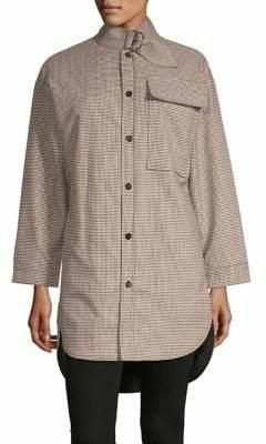 Maje Carreaux Plaid Coat