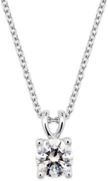 X3 Certified Diamond Pendant Necklace in 18k White Gold (1 ct. t.w.), Created for Macy's
