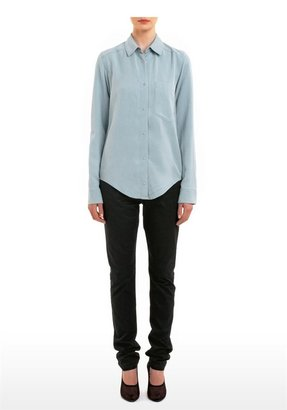 Alexander Wang Washed Tencel Chambray Shirt