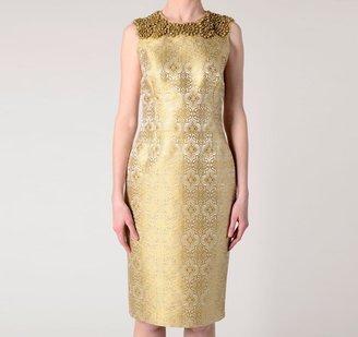 Vera Wang Corseted Sheath Dress