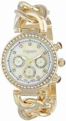 Akribos XXIV Women's AK640YG Lady Diamond -Tone Chain Link Watch