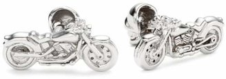 """Rotenier Novelty"""" Sterling Chopper Cycle and Skull Cufflinks"""