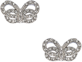 Carolee Crystal Bow Stud Earrings