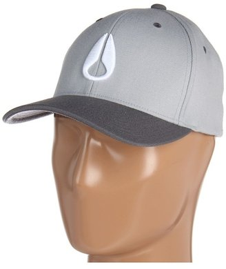 Nixon Deep Down Flexfit 210 Fitted Hat (Light Gray/Charcoal) - Hats