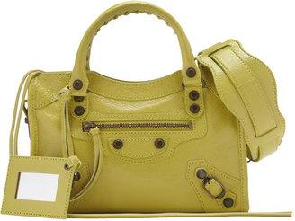 Balenciaga Classic Mini City Bag, Jaune Poussin