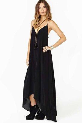 Nasty Gal Faddoul Lily Silk Maxi Dress