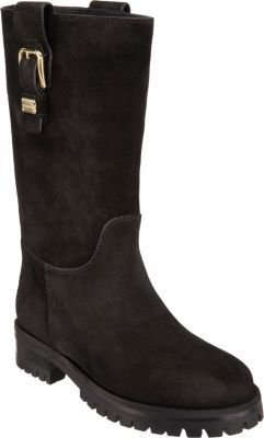 Dolce & Gabbana Suede Buckle-Tab Boot