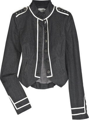 Temperley London Alice by Cardinal denim military jacket