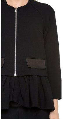 Thakoon Leather Pocket Peplum Jacket