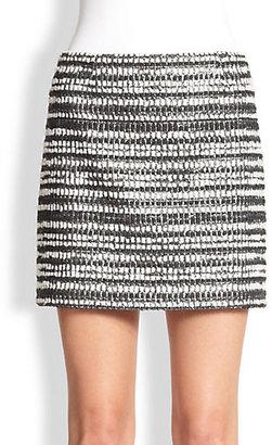 Alice + Olivia Elana Metallic Tweed Mini Skirt