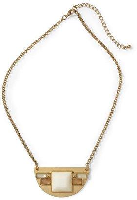 Rachel Zoe Hive & Honey Half Circle Necklace
