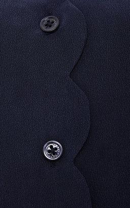 Equipment Brett Scalloped Silk Shirt