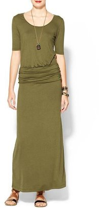 Juicy Couture Hive & Honey Banded Knit Maxi Dress