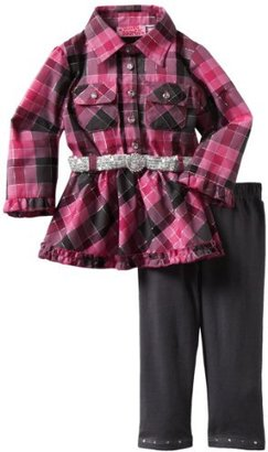 Young Hearts Baby-Girls Infant 2 Piece Plaid Legging Set