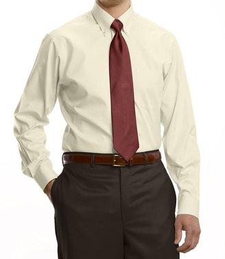 Jos. A. Bank Traveler Tailored Fit Pinpoint Solid Buttondown Collar Dress Shirt