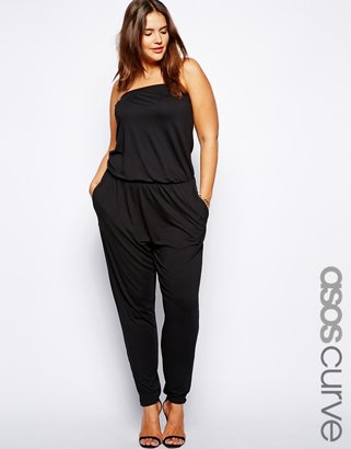 Asos Exclusive Bandeau Jumpsuit With Peg Leg