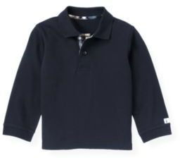 Janie and Jack Elbow Patch Polo Shirt