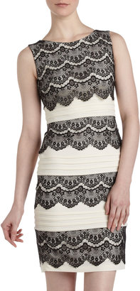 Jax Lace and Plisse Dress