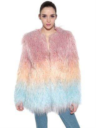 American Retro Eco Fur Coat