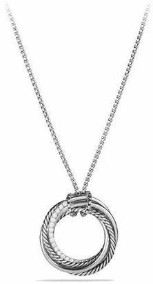 David Yurman Crossover Pendant Necklace with Diamonds