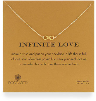 Dogeared Infinite Love Gold-Dipped Infinity Necklace