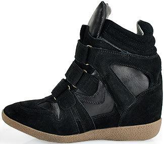 Steve Madden Hilight - Wedge Sneaker in Black Suede