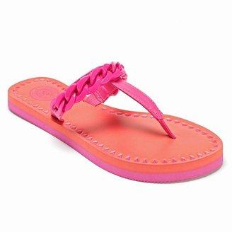 So ® chain t-strap flip-flops