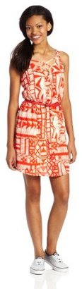 My Michelle Sequin Hearts by Juniors Printed Lattace Back Dress