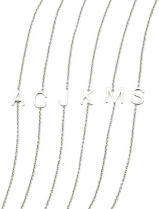 Maya Brenner Designs 14k White Gold Letter Bracelet