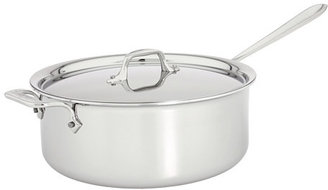 All-Clad Stainless Steel 6 Qt. Deep Sauté Pan With Lid