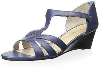 Adrienne Vittadini Footwear Women's Corette Wedge Sandal $99 thestylecure.com