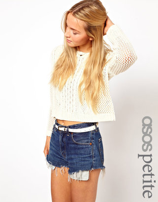 Asos Exclusive Crop Sweater in Knit
