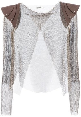 Aurelie Demel chainlink armour top
