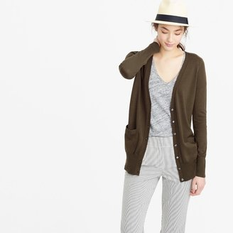 J.Crew Classic merino wool long cardigan sweater