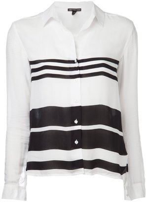 James Perse Standard relaxed striped blouse