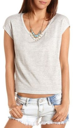 Charlotte Russe Skull Cutout French Terry Top