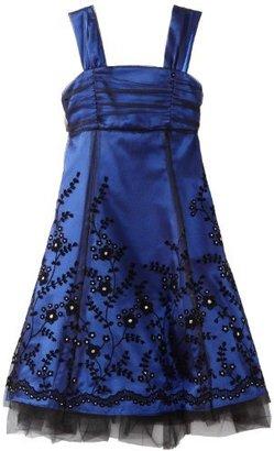 Rare Editions Girls 7-16 Flocked Border Dress