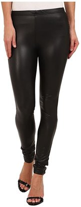 Plush Fleece-Lined Liquid Legging (Black) Women's Clothing