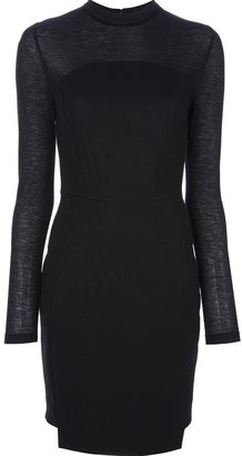 Antonio Berardi mesh fitted dress