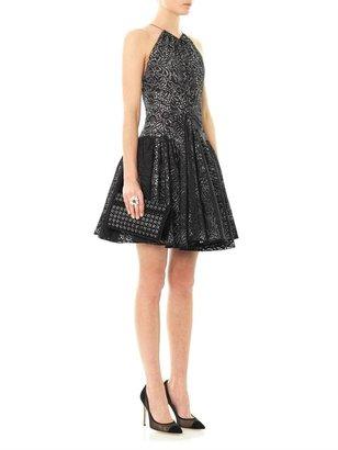 Azzedine Alaia Laser-cut bouquet perforation dress