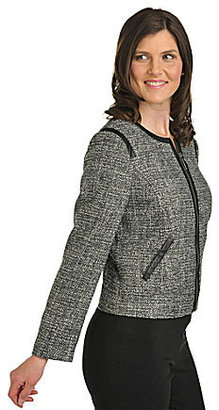 TanJay Jewelneck Tweed Jacket