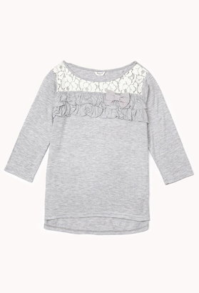Forever 21 Girls Ruffled Bow Top (Kids)
