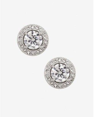 Express Cubic Zirconia Pave Halo Stud Earrings $24.90 thestylecure.com
