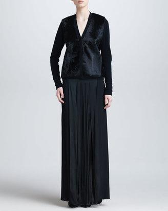 Mantu Floor-Length Pleated Skirt