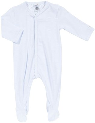 Petit Bateau 'Fan Milleraies' Footie (Baby) - Light Blue-Preemie